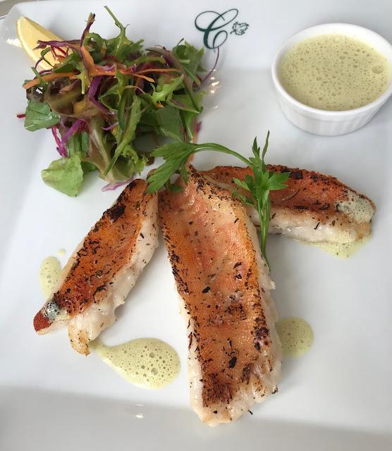 Le Courtyard Restaurant, Mauritius, pan fried fish