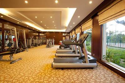 Phòng gym Grandeur Palace hiện đại, rộng rãi phục vụ cư dân
