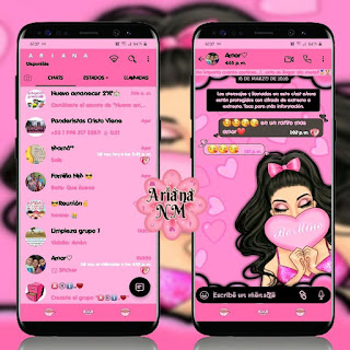 Pink Girl Theme For YOWhatsApp & Fouad WhatsApp By Ariana NM