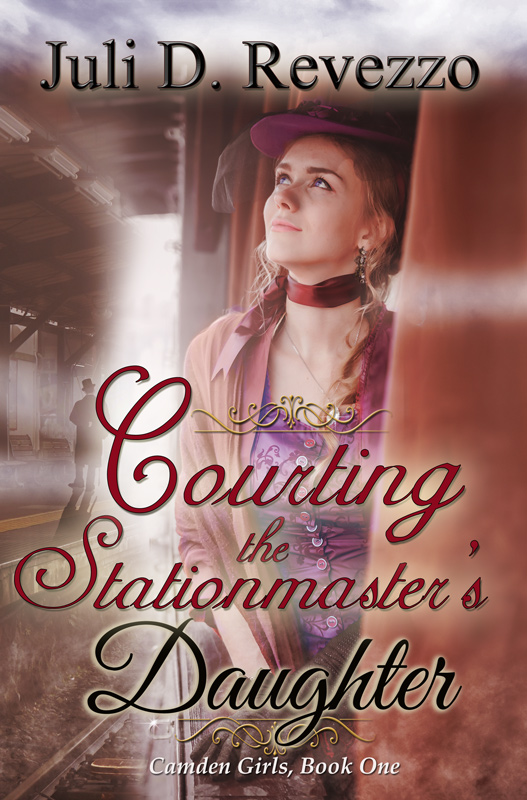 Courting the Stationmaster's Daughter by Juli D. Revezzo, historical romance, Victorian romance, free with Kindle Unlimited, jilted bride, older man younger woman romance, 19th century, history of subways