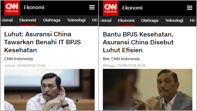 Data 279 Juta Penduduk RI Bocor, Luhut Pernah Tawarkan Asuransi China Benahi IT BPJS