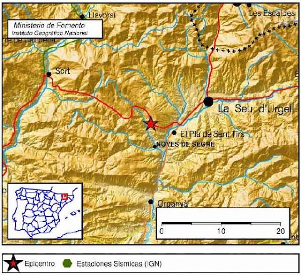 Terremoto sentido en varias zonas de Lleida