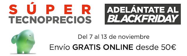 Top 15 ofertas catálogo Adelántate al Black Friday de El Corte Inglés