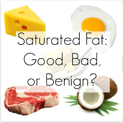 Saturated Fat Good, Bad or Benign ?