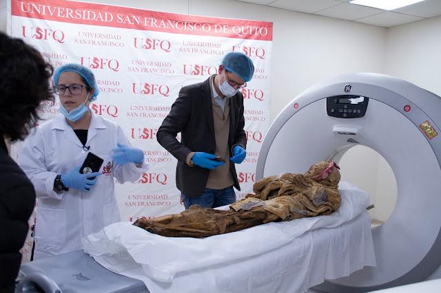 Científico francés desarrolla sus primeras investigaciones sobre la momia de Guano en la USFQ