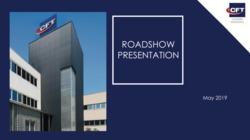 Roadshow Presentation – May 2019 di Cft