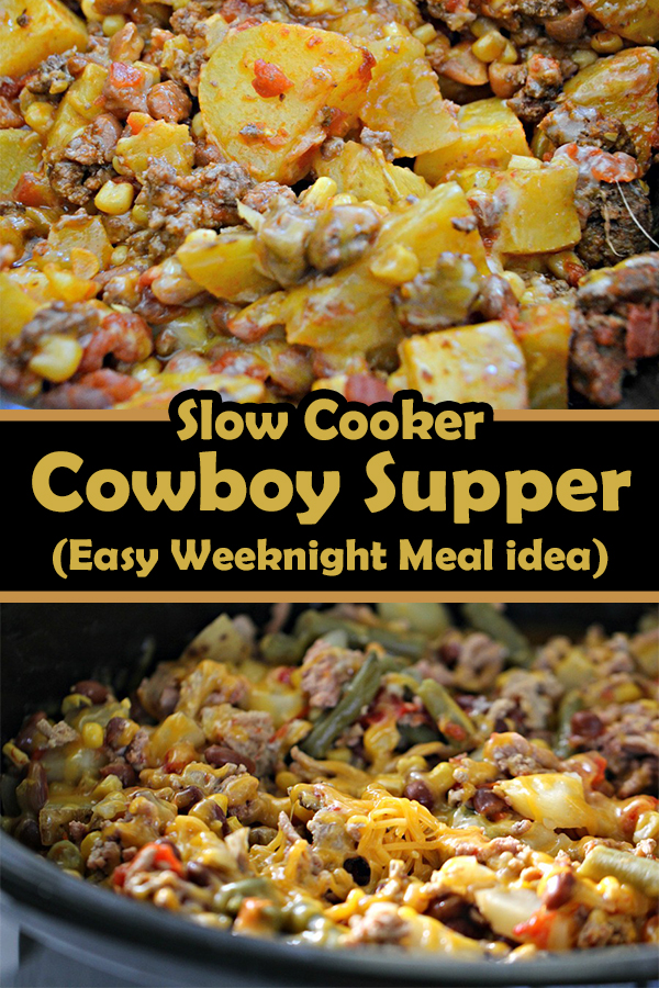 Slow Cooker Cowboy Supper (Easy Weeknight Meal idea)