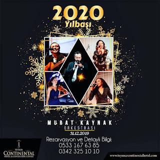 Teymur Continental Hotel Gaziantep Yılbaşı Programı 2020 Menüsü