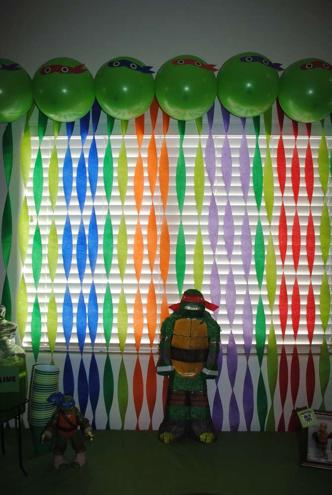 Ninja turtle birthday party ideas building our story for Tmnt decorations