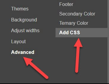 Advanced then Add CSS