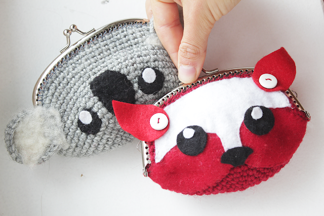The Koala and Fox Crochet purse. An every day item turned animal!