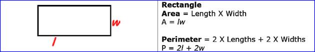 Area of rectangle & Perimeter of rectangle