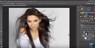 remover o fundo da imagem sem danificar o cabelo