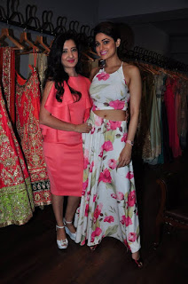 Actress Shamita Shetty Pictures in Floral Dress at Amy Billimoria Launch 0006