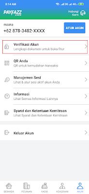 Cara Melakukan Verifikasi Akun dari Aplikasi Payfazz Android