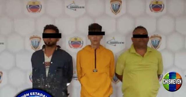 Tres detenidos en Punto Fijo por robar en varias empresas locales