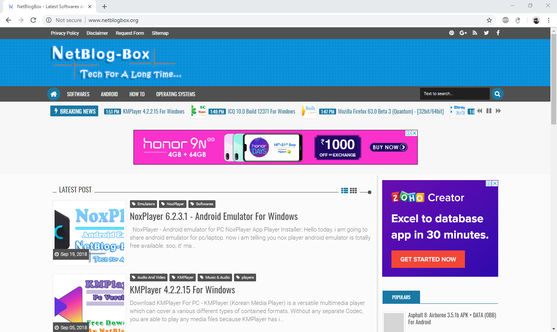Google Chrome 69.0.3497.100 (32-bit/64-bit) Offline Installer | NetBlogBox - Latest Softwares and Games Download