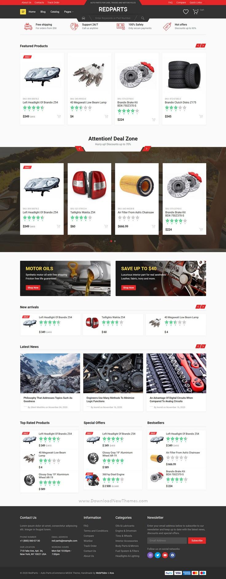 Auto Parts eCommerce MODX Theme
