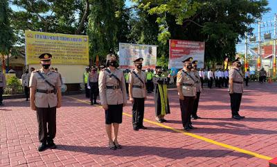 Upacara Serah Terima Jabatan Kapolsek dan Kasat Lantas Polres Bantaeng