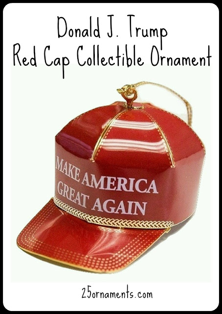 Ornament collector? Keep an eye on the price of the official Donald J. Trump red cap collectible ornament. Will the value rise or will it fall?