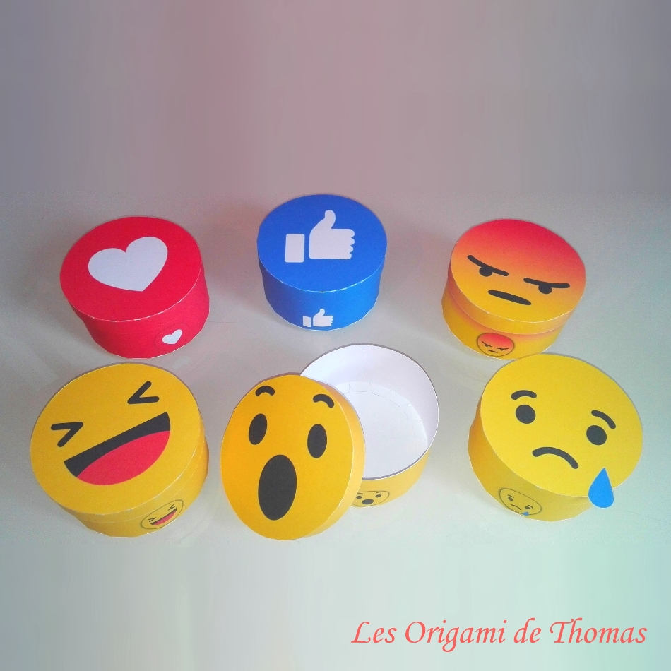 origami facile smiley