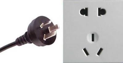 Instalaciones eléctricas residenciales - Enchufe tipo I chino