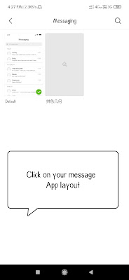 Change message app layout in miui theme