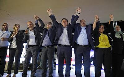 Lista conjunta de partidos árabes inclinada a recomendar Gantz para o primeiro-ministro