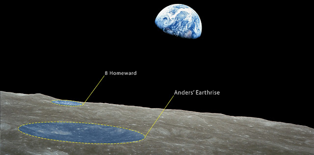 anders earthrise and 8 homeward iau names two lunar craters in honor of apollo 8