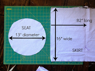 fabric cuts for kids stool slipcover