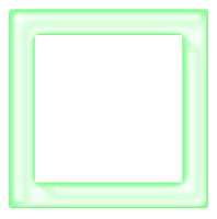 Moldura quadrada verde - criação Blog PNG-Free