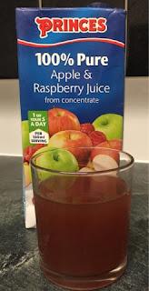 Princes 100% pure pure apple & raspberry Juice