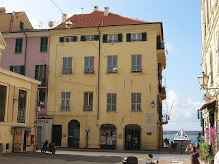 The house where Andrea Doria was born, overlooking the port in Oneglia on the Ligurian coast
