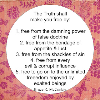 """The Truth Shall Make you free."""