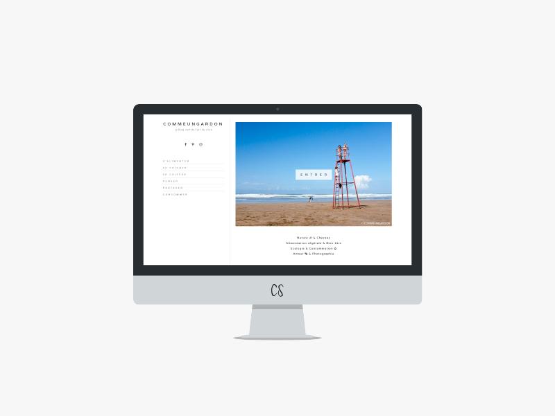 Design de blog : COMMEUNGARDON