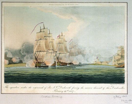 https://en.wikipedia.org/wiki/Dardanelles_Operation_(1807)#/media/File:Duckworth%27s_Squadron_forcing_the_Dardanelles.jpg