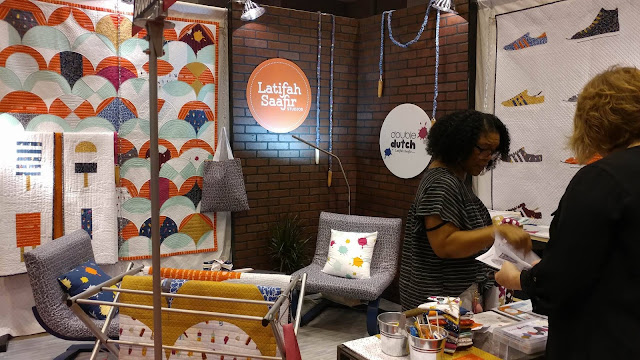 Latifah Saafir's booth at Quilt Market