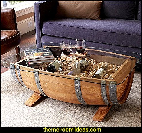 Wine Barrel Coffee Table