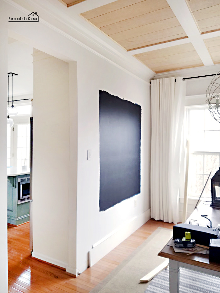 how to paint a wall to turn it into a chalkboard