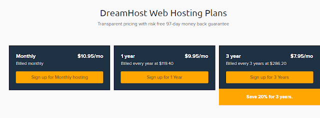 dreamhost web hosting plan
