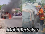 Diduga Karena Arus Pendek, Mobil Terbakar di Jalan Nenggeng