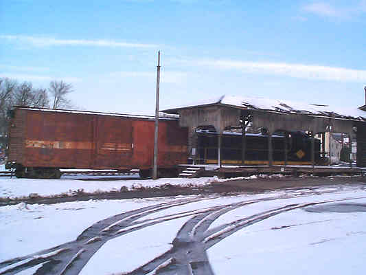 Quakertown Freight Station and engine