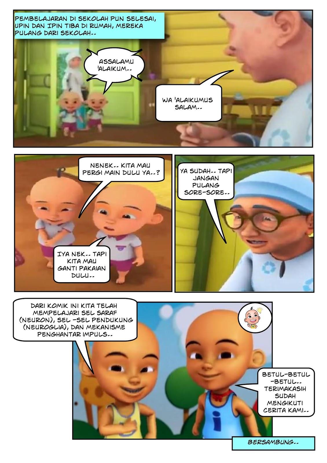 Gambar Komik Lucu Upin Ipin Komicbox