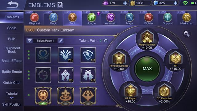 Emblems Mobile Legends