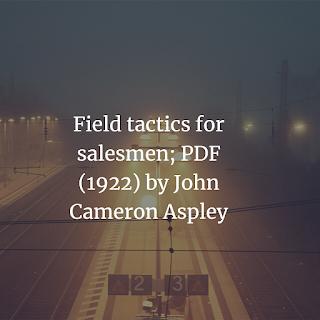 Download Field tactics for salesmen