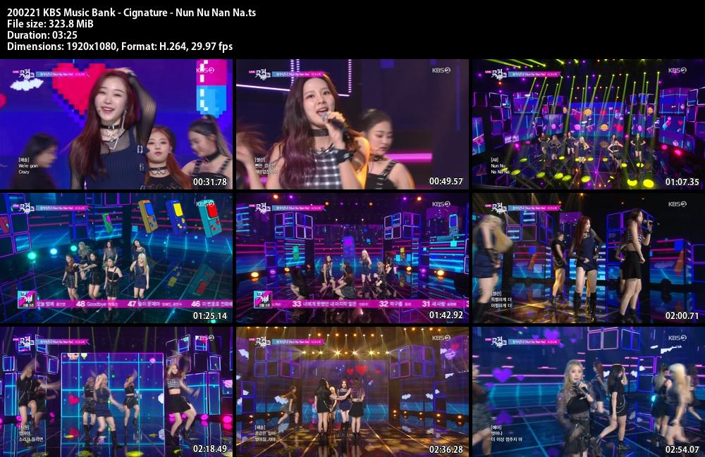 Music Bank ,1080p , Kpop, 2020 , Cignature , Nun Nu Nan Na