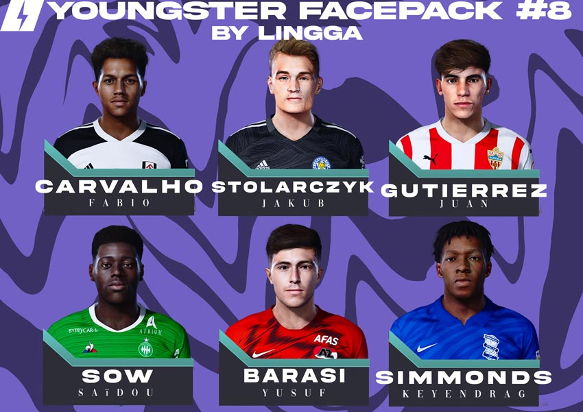 Youngster Facepack V8 2021 For eFootball PES 2021
