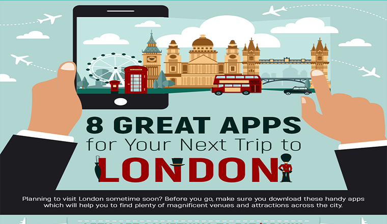 8 Great Apps for Your Next Trip to London #infographic