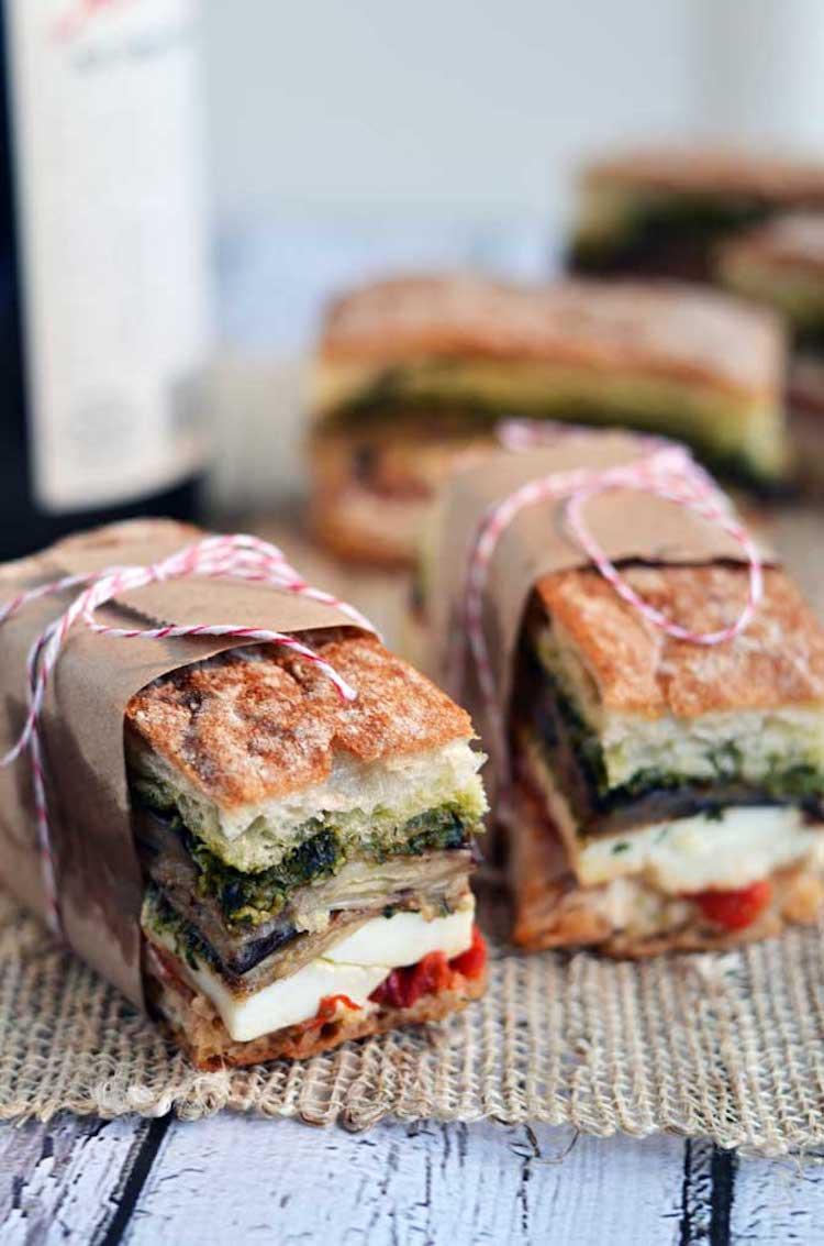 receta sándwich con pesto