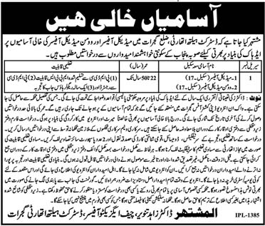 District Health Authority Gujrat Latest Jobs 14 Feb 2019